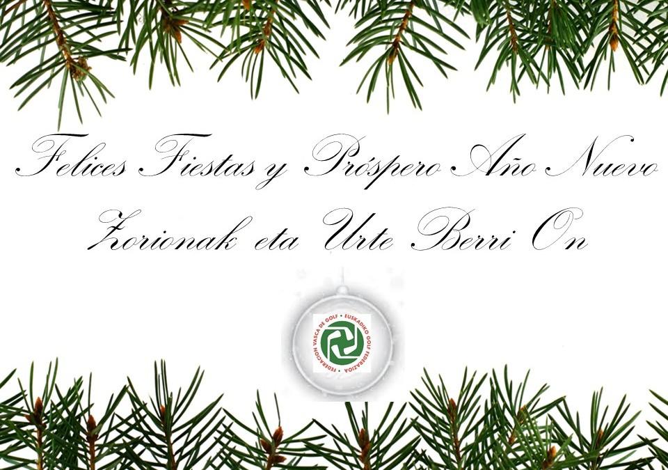 La Federación Vasca les desea Felices Fiestas y un Próspero Año Nuevo