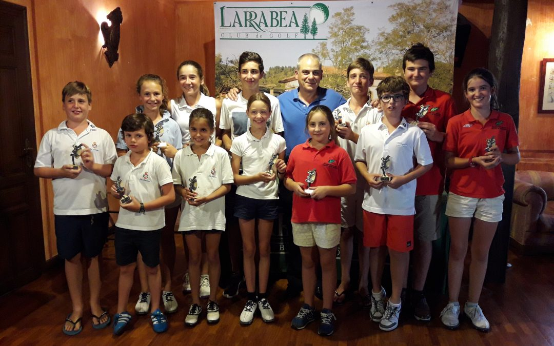 Victorias de Etxezarreta, De los Rios (infantiles), Beñaran, Lizarazu (alevines), Jáuregui y Lizarazu (benjamines), en el Campeonato de Alava Infantil