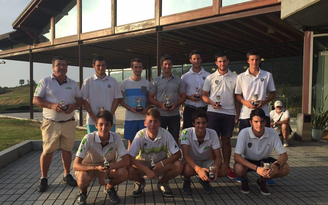 El equipo del Club de Golf Larrabea se adjudica el título del Campeonato País Vasco Interclubes Masculino