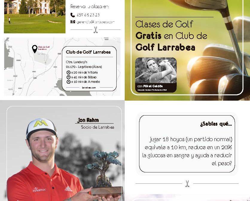 Cursos de iniciación gratuitos en el Club de Golf Larrabea