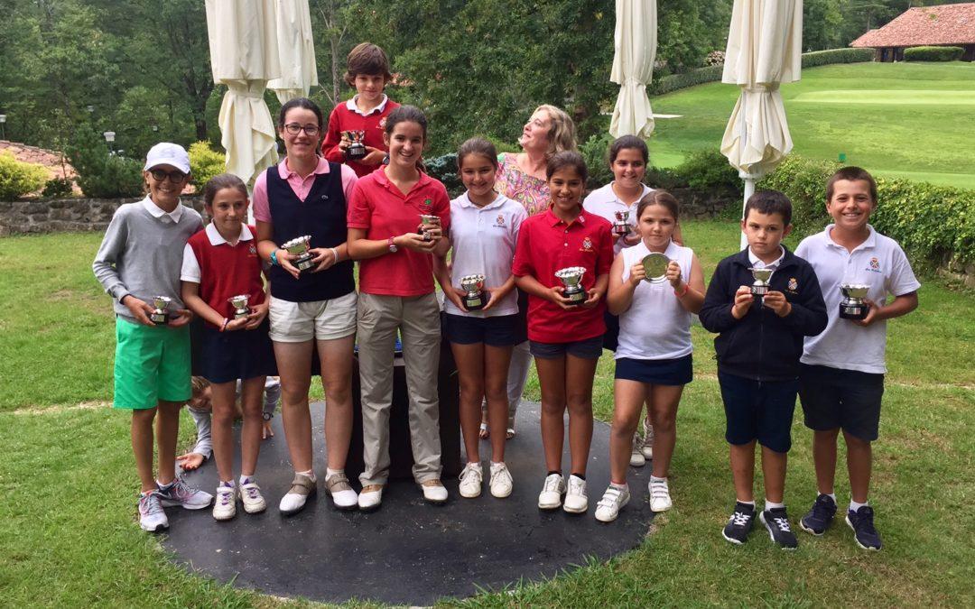 Delos Rios / Bilbao (Infantiles), Fernandez / Lopez-Lanchares (Alevines) y Elosegui / Iraola (Benjamines) campeones del Jaizkibel Infantil, Alevín y Benjamín