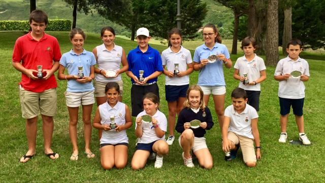 De los Ríos / Aizpurua (Infantiles), Perez / López-Lanchares (Alevines) y Elosegui / Iraola (Benjamines) Campeones Infantil de Zarauz