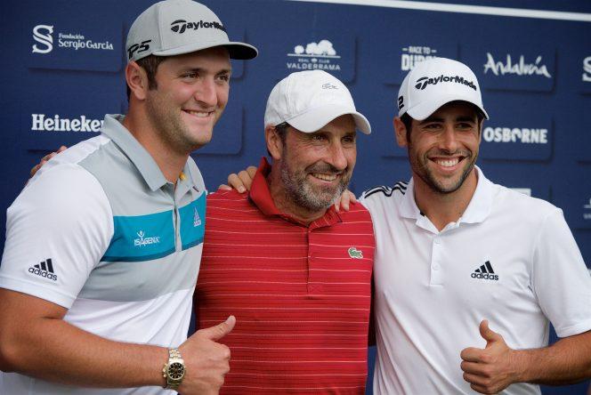 Arranca el Andalucía Valderrama Masters con Jon Rahm, José Mª. Olazábal y Adrián Otaegui