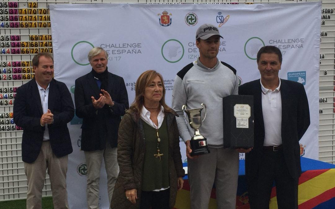 Victor Perez campeón del Challenge de España en Izki Golf