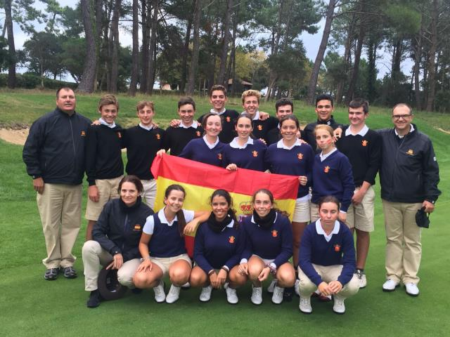 El equipo Galo ganador del  Match Juvenil España-Francia