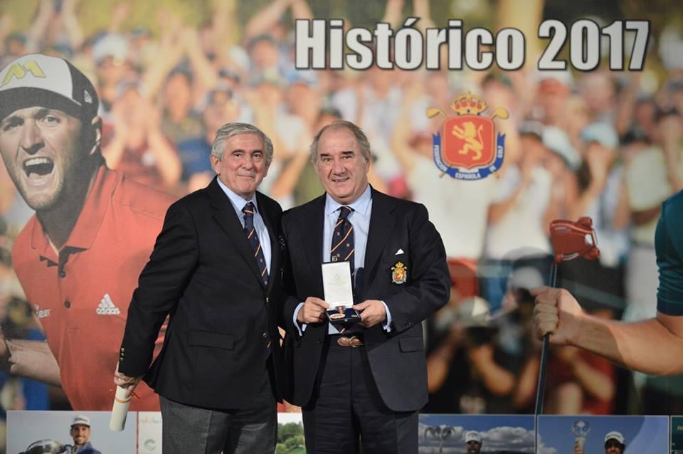 Rafael Nebreda, Jaime Salaverri y Javier Sainz Medallas de Oro al Mérito en Golf