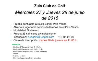 Inscripciones abiertas para el Puntuable Circuito Senior de Zuia