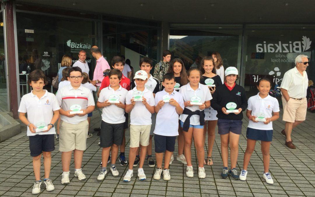I. Llantada, A. Beñaran, M. Arozena, A. Jauregui y A. Olasagasti los mejores en el Campeonato Infantil de Meaztegi