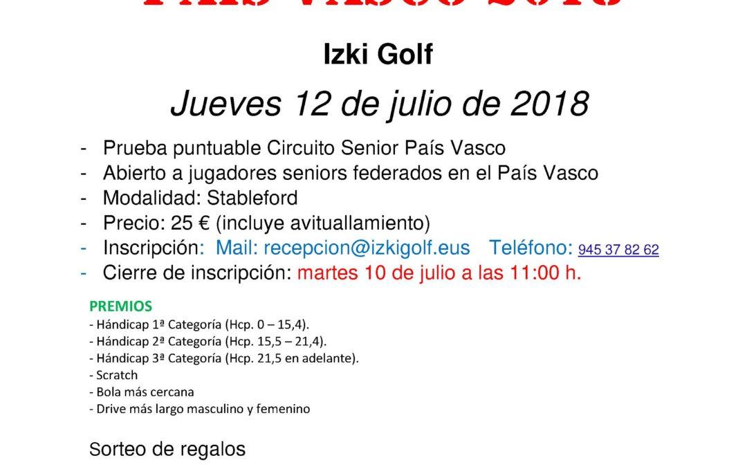 Horarios de Salida del Puntuable Circuito Senior de Izki – 12 Julio