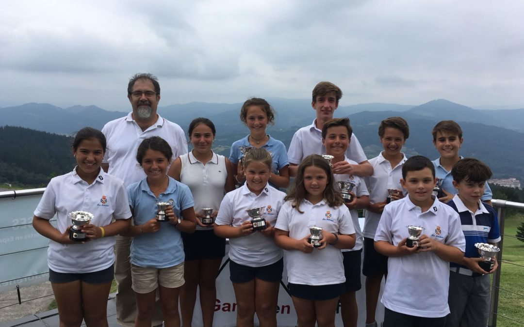 Guibert y Beñaran (Infantiles), Fernandez e Iraola (Alevines), Sal e Iraola (Benajmines) Campeones de la Copa Federación Vasca Infantil