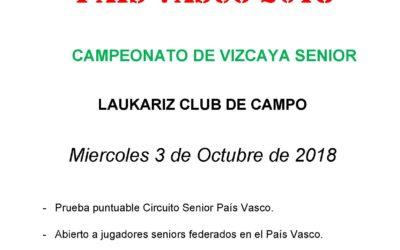 Inscripciones abiertas para el Campeonato de Vizcaya Senior 2018