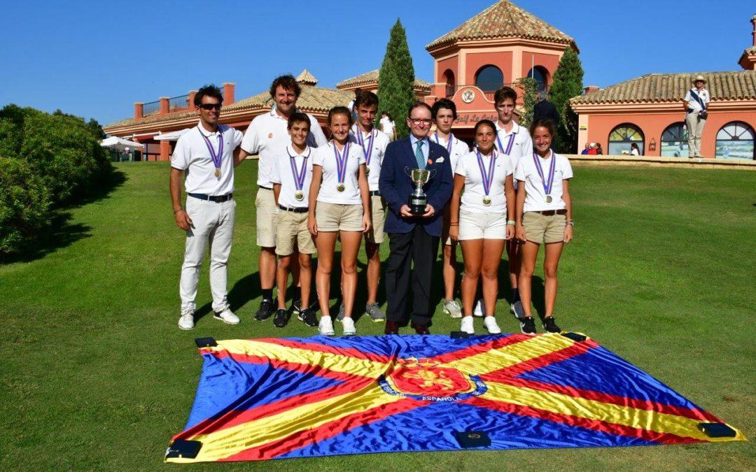 El equipo vasco a revalidar el título del Campeonato de España de Federaciones Autonomicas Infantil conseguido el año pasado