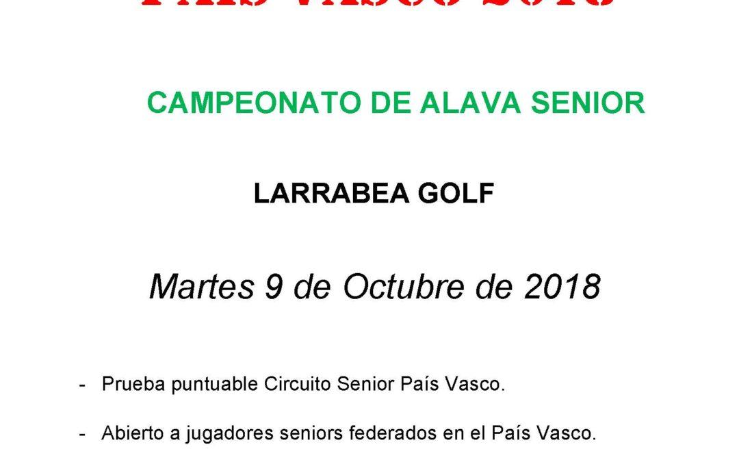 Inscripciones abiertas para el Campeonato de Alava Senior 2018