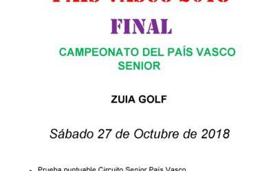 Inscripciones abiertas para el Campeonato del País Vasco Senior 2018