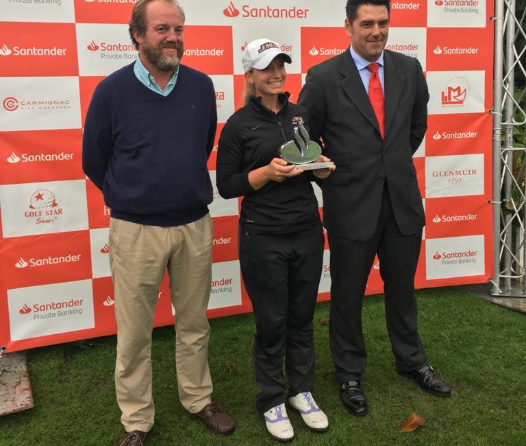 La malagueña Laura Gómez ganadora del Santander Golf Tour de Vizcaya