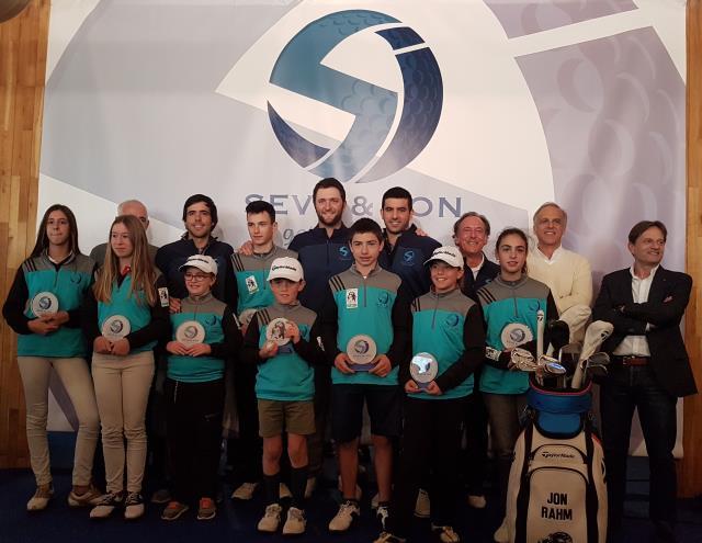 Éxito del 'Seve & Jon golf for kids', con participación de más de 600 jóvenes golfistas