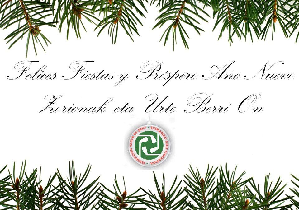 ¡Felices Fiestas y próspero año!