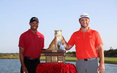 Jon Rahm ganador del Hero World Challenge, torneo de la fundación de Tiger Woods