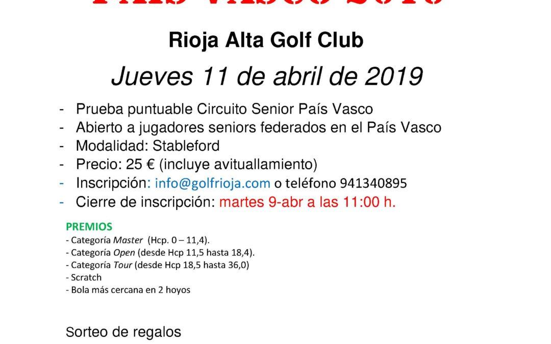 Horarios de Salida – Puntuable Circuito Senior – Rioja Alta