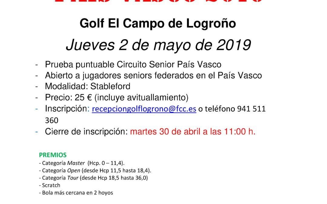 Inscripciones abierta – Puntuable Circuito Senior Logroño