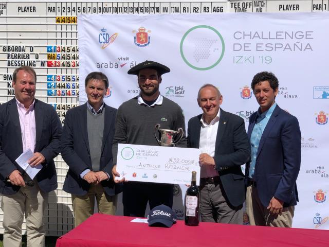 El Frances Antonie Rozner ganador en el Challenge de España de Izki Golf