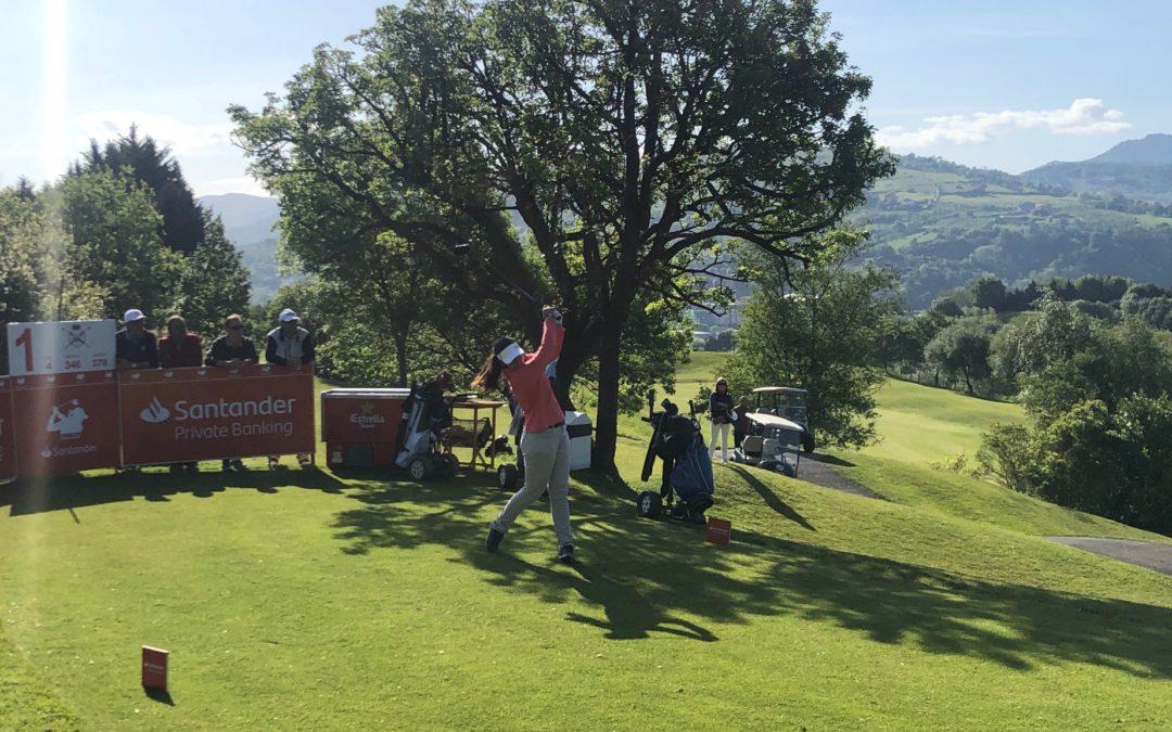 Natalia Escuriola, líder en Basozabal, con hoyo en uno incluido, tras la 1ª jornada del Santander Golf Tour