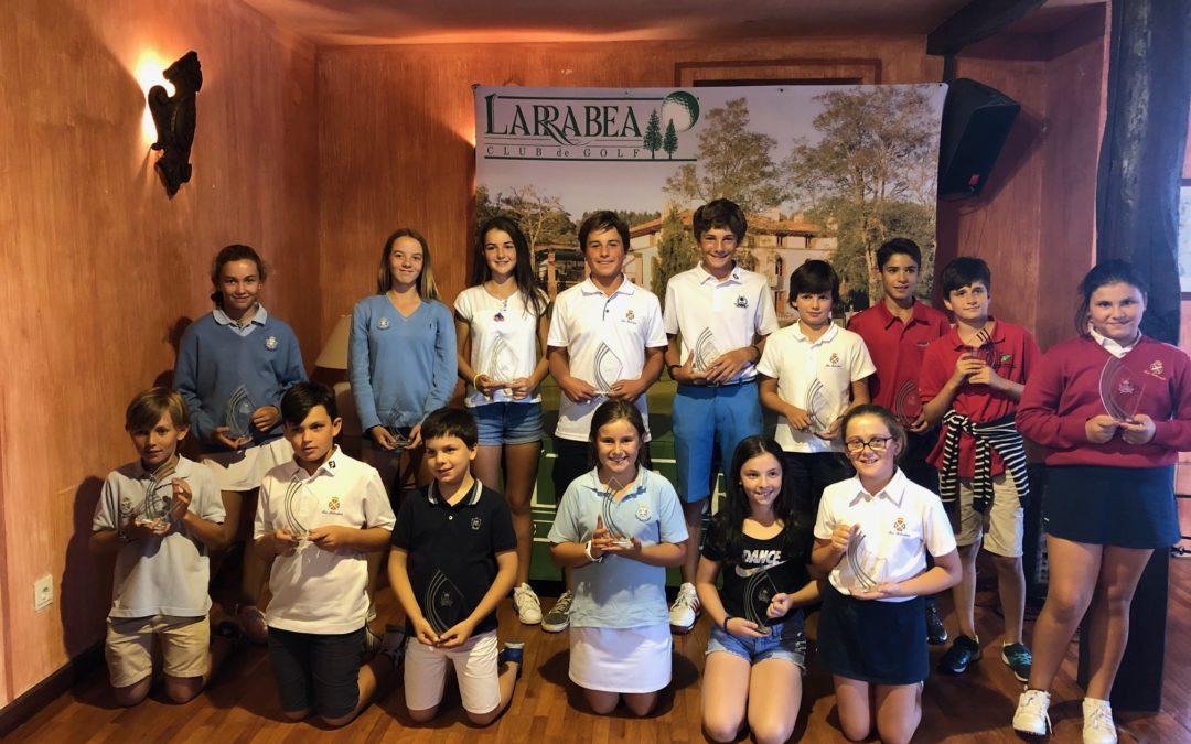 Fernandez/Lanchares (Infantiles), Elosegui/Yrizar(Alevines) e Yrizar/Eguiazabal (Benjamines)- Campeonato de LarrabeaInfantil
