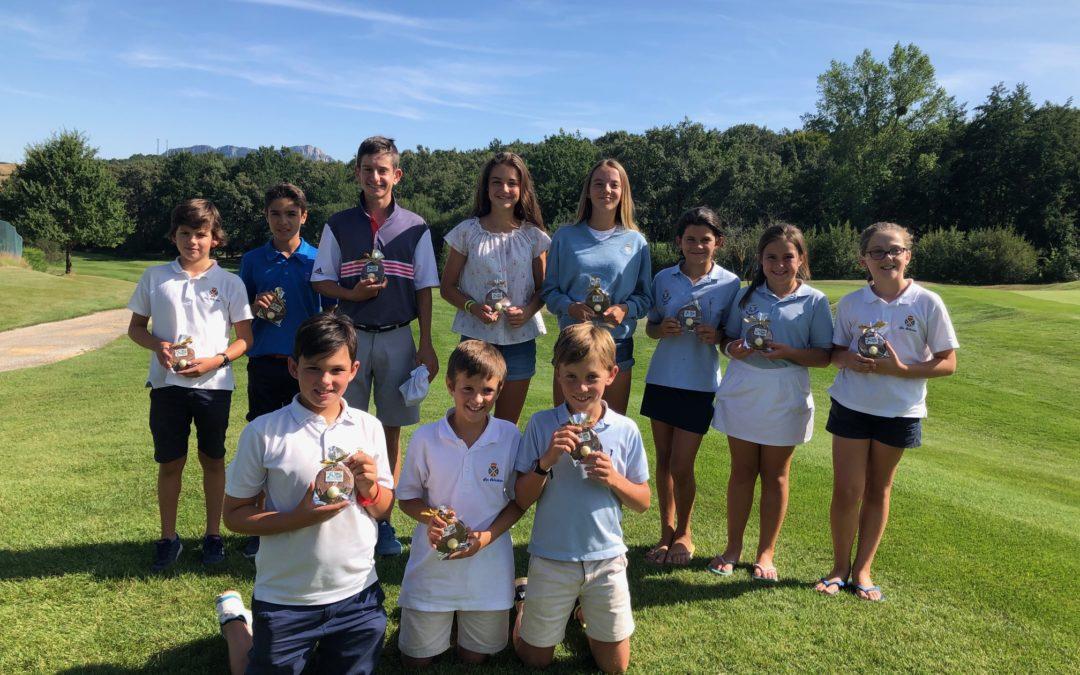 Herrero/Lanchares (Infantiles), Enguita/Yrizar (Alevín) e Yrizar/D'onofrio (Benjamines) Campeones de Izki Infantil