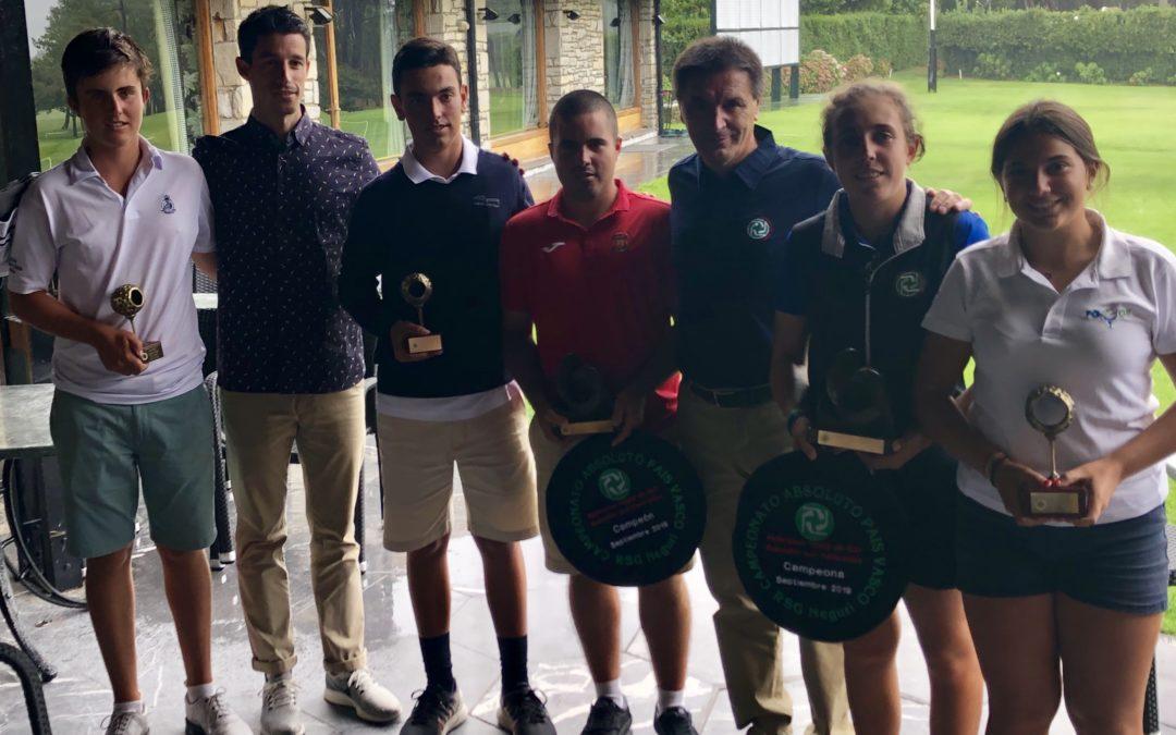 Tomás Beguiristain y Amaia Latorre Campeones del País Vasco Absolutos