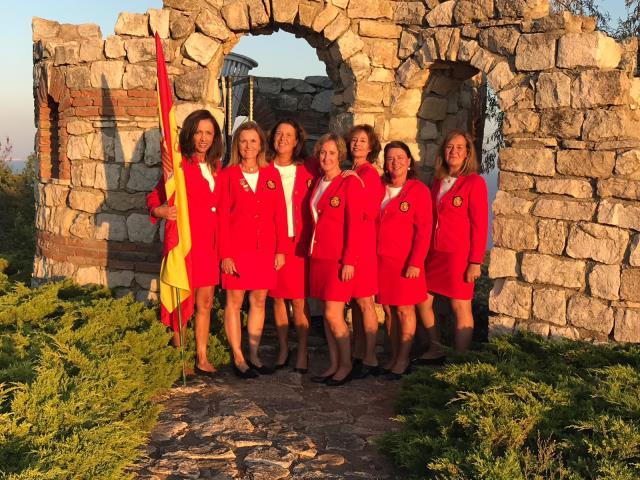 Lourdes Barbeito en semifinales del Campeonato de Europa Senior por equipos Femenino
