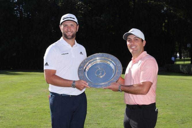 Jon Rahm condecorado con el premio Seve Ballesteros como mejor jugador del European Tour en 2019