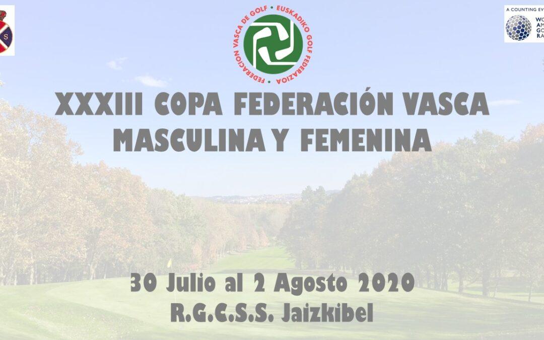Horarios de Salida – XXXIII Copa Federación Vasca de Golf