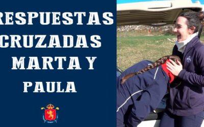 Videos palabras cruzadas de los jugadores vascos Paula Balanzategui y Eduardo de Los Ríos con sus compañeros de la Blume