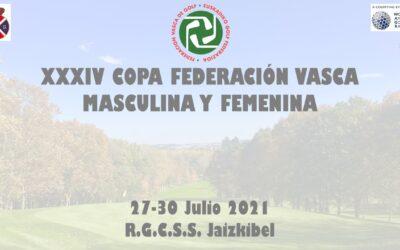 Pablo Perez y Martina Lopez-Lanchares cabezas de serie de la Copa Federación Vasca