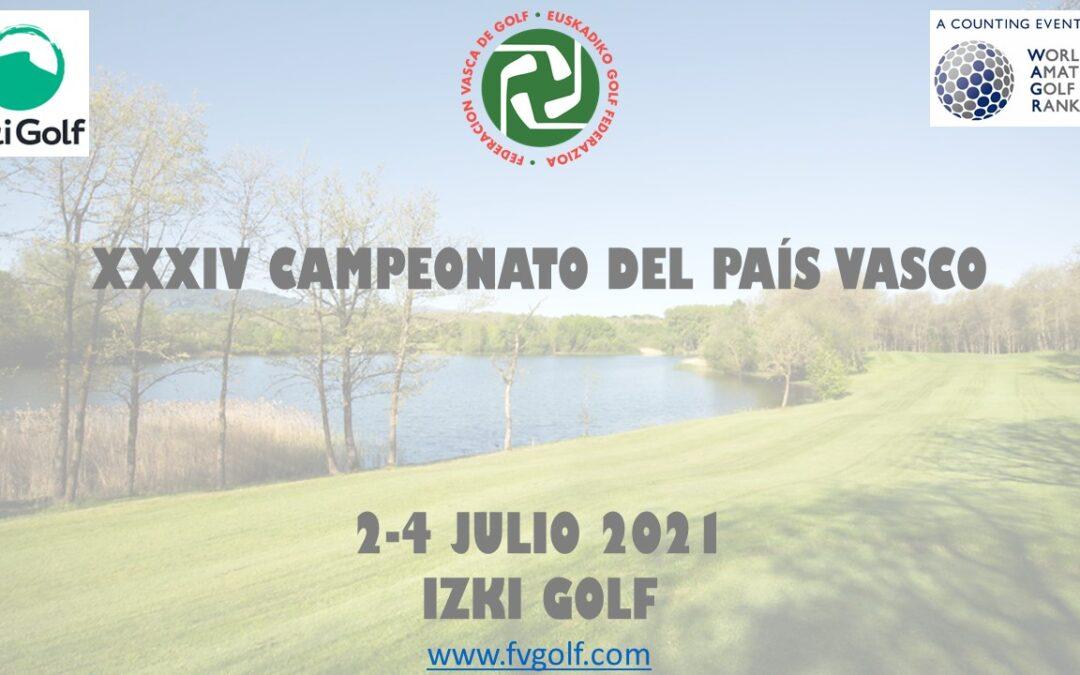 XXXIV Campeonato del País Vasco – Listado de jugadores admitidos